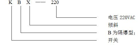 KBX-220隔爆倾斜开关型号含义